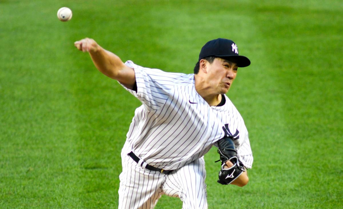 Mashiro Tanaka memberikan dorongan pertamanya untuk rotasi Yankees