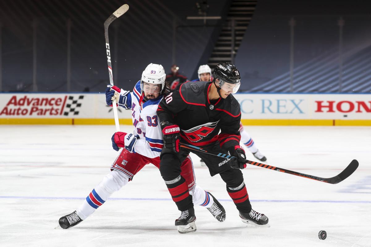 Mika Zibanejad menyebut permainan kekuatan brutal Rangers vs. Hurricanes