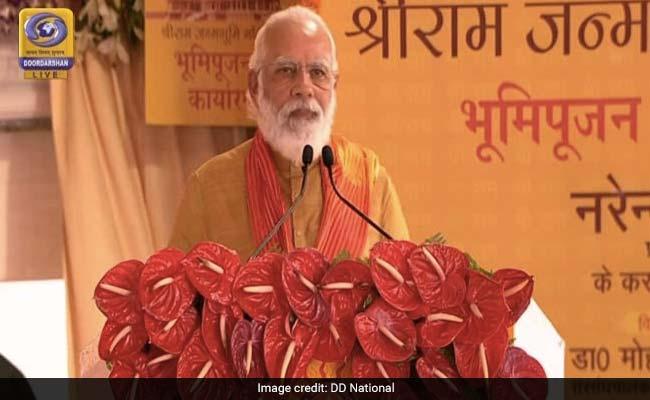 PM Narendra Modi Mengatakan Tuhan Ram Tinggal Di Bawah Tenda Selama Bertahun-Tahun, Sekarang Sebuah Kuil Agung baginya