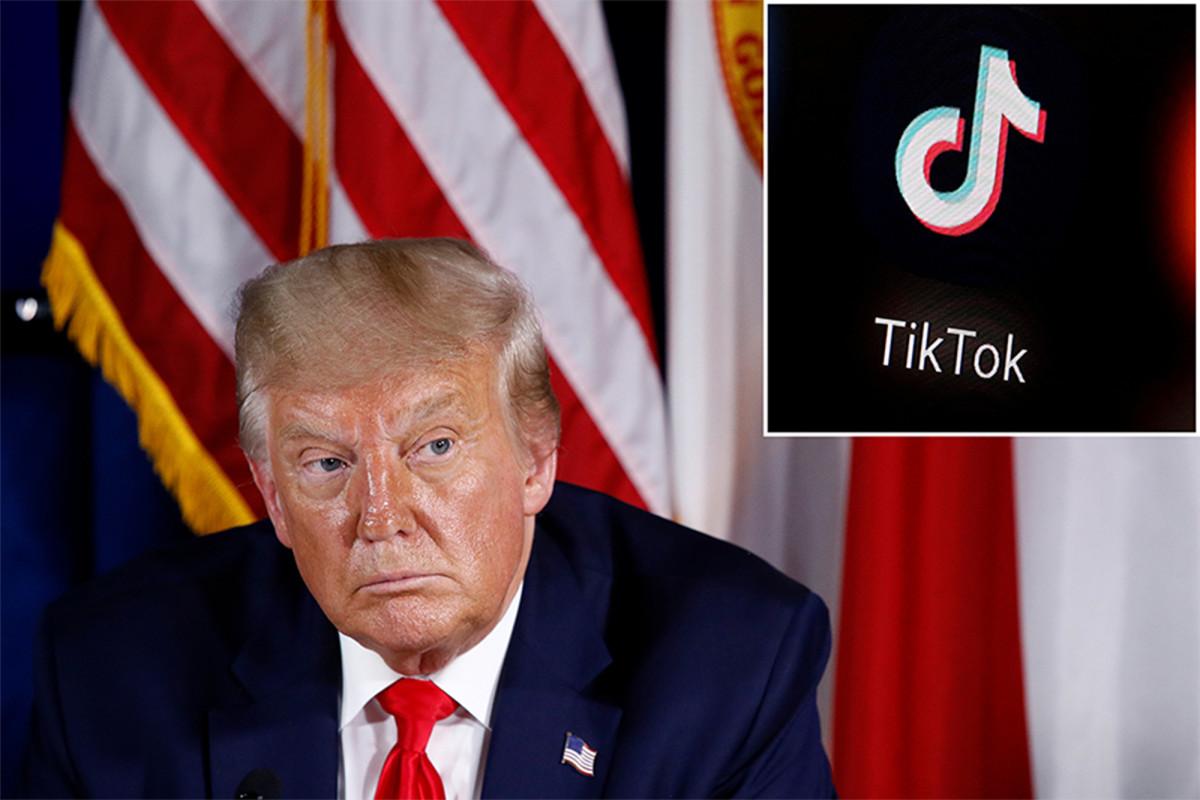 Trump mengatakan dia bermaksud untuk 'melarang' TikTok dari AS